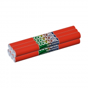 Papel Contact Vermelho 45cm x 10m 6 Unidades Colacril