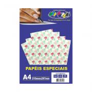Papel Estampado A4 Flores 180g 10 Folhas Off Paper