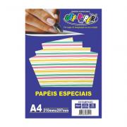 Papel Estampado A4 Listras Coloridas 180g 10 Folhas Off Paper