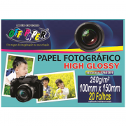 Papel Fotográfico High Glossy 10cm x 15cm 250g 20 Folhas Off Paper