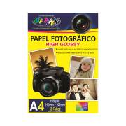 Papel Fotográfico High Glossy A4 180g 50 Folhas Off Paper
