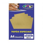Papel Metalizado A4 Ouro Velho 150g 15 Folhas Off Paper