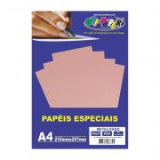 Papel Metalizado A4 Rosa 150g 15 Folhas Off Paper