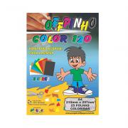 Papel Offpinho Color A4 8 Cores 120g 25 Folhas Off Paper