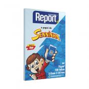 Papel Sulfite A4 Azul 75g 100 Folhas Senninha Report