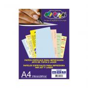 Papel Vergê A4 Azul 180g 50 Folhas Off Paper