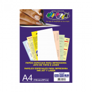 Papel Vergê A4 Branco 120g 50 Folhas Off Paper
