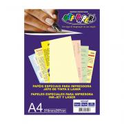 Papel Vergê A4 Palha 180g 50 Folhas Off Paper