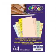 Papel Vergê A4 Salmão 180g 50 Folhas Off Paper