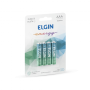 Pilha Alcalina AAA 4 Unidades Elgin