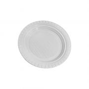 100 Pacotes Prato Descartável PS 150mm Branco 10 Unidades Copozan