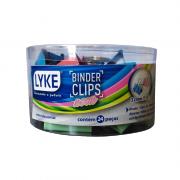 Prendedor de Papel Binder Clip Colorido 32mm 24 Unidades Lyke