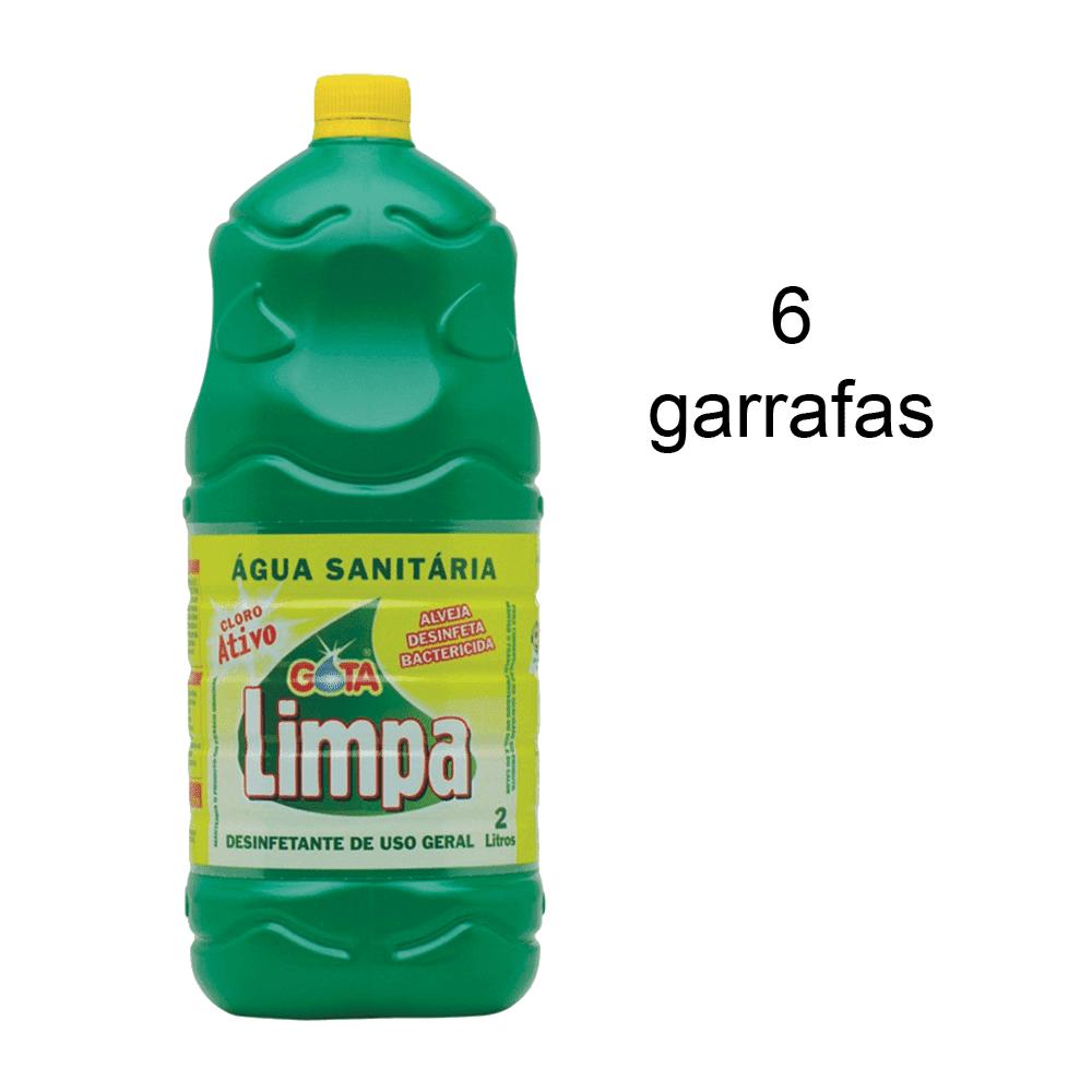 Água Sanitária 2L 6 Unidades Gota Limpa