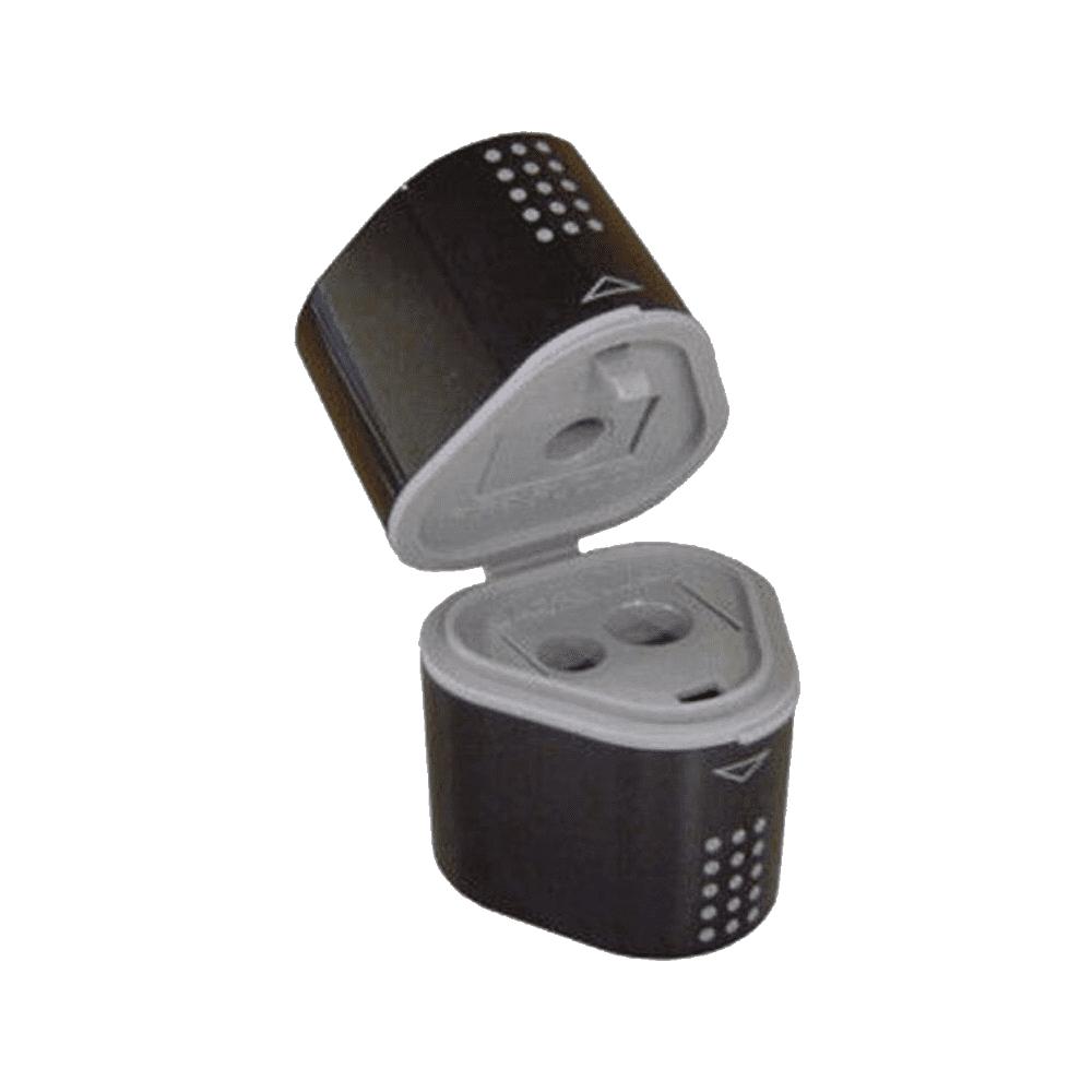 Apontador 3 em 1 Preto com Depósito Grip 2001 Faber Castell