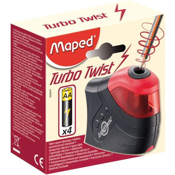 Apontador à Pilha Automático 1 Furo Turbo Twist Maped