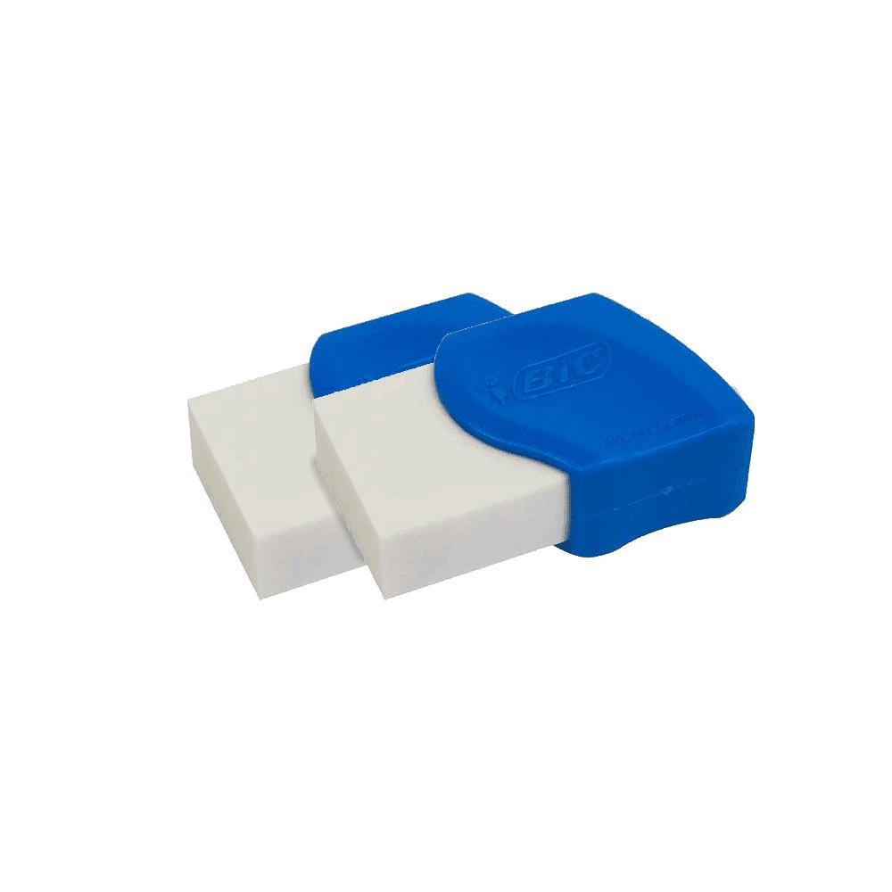 Borracha Branca com Capa 2 Unidades Bic