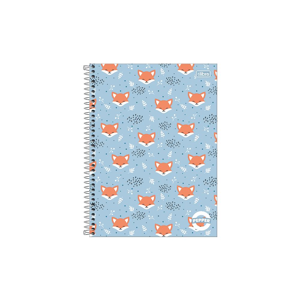 Caderno Espiral Capa Dura Universitário 1 Matéria Pepper Feminino 80 Folhas Tilibra
