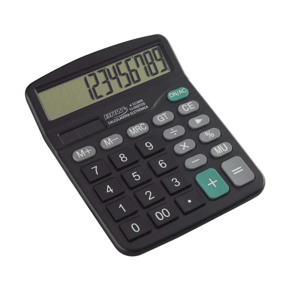 Calculadora de Mesa 12 Dígitos CC3000 Preta BRW