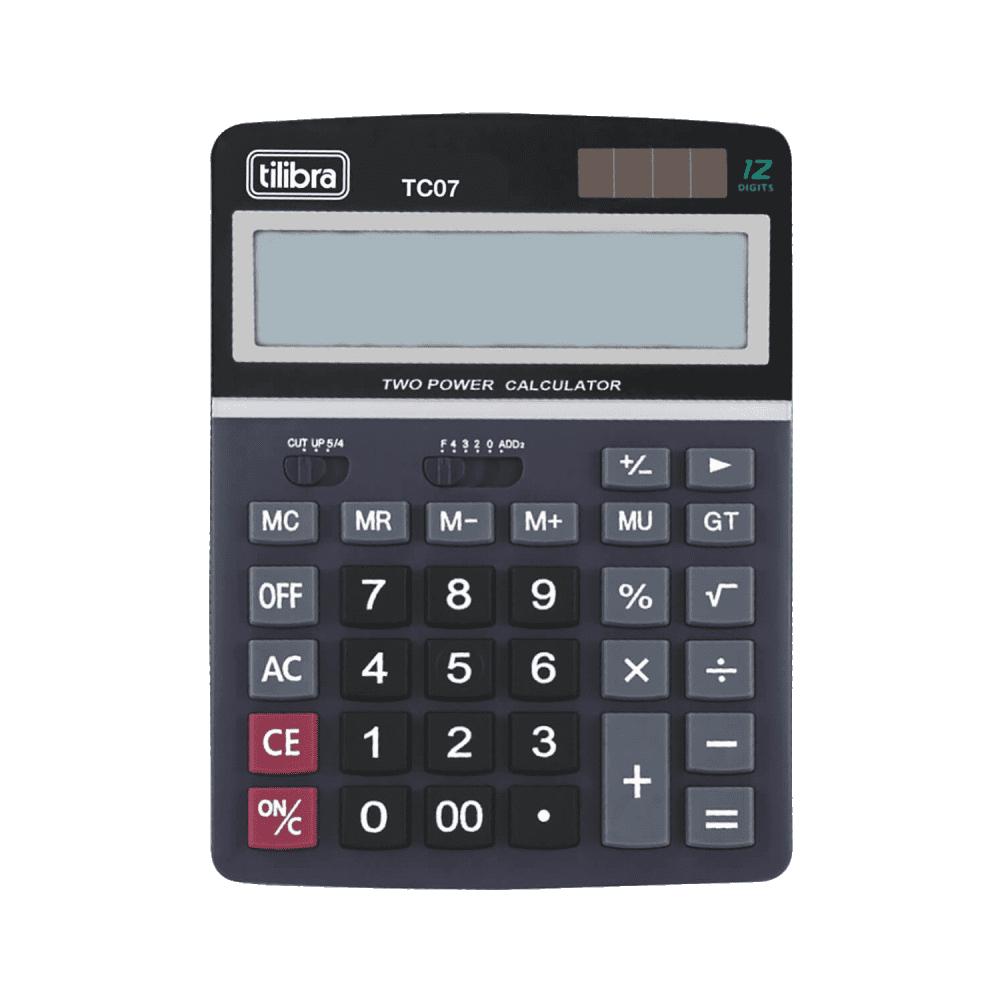 Calculadora de Mesa 12 Dígitos Grande TC07 Preta Tilibra
