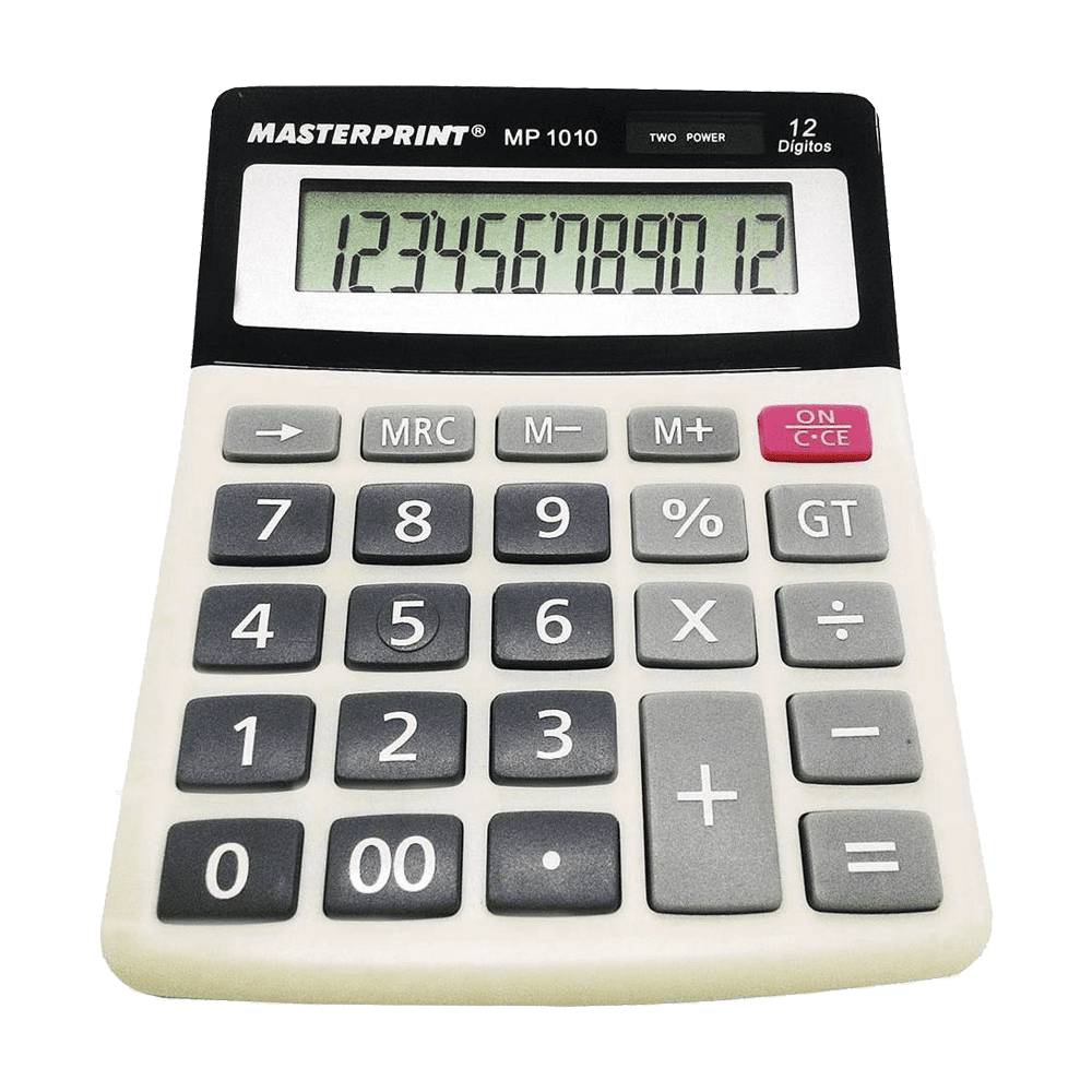 Calculadora de Mesa 12 Dígitos MP 1010 Masterprint