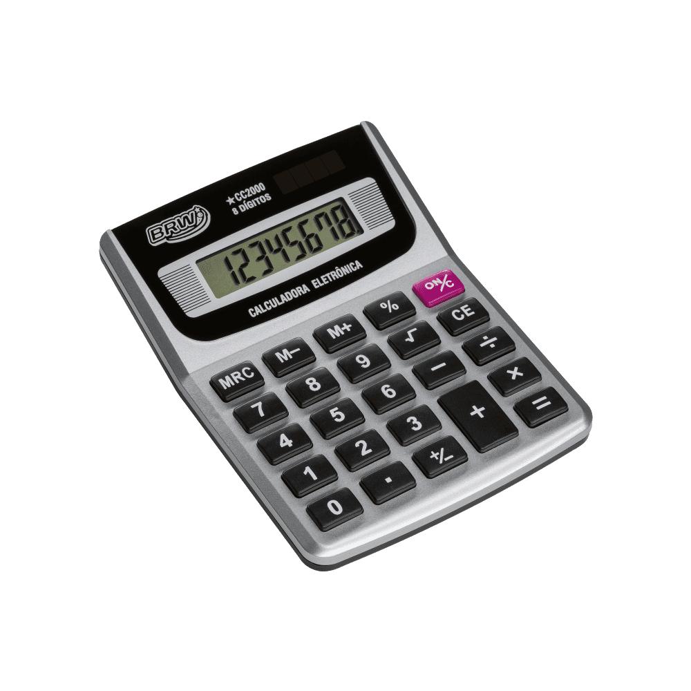 Calculadora de Mesa 8 Dígitos CC2000 Cinza BRW