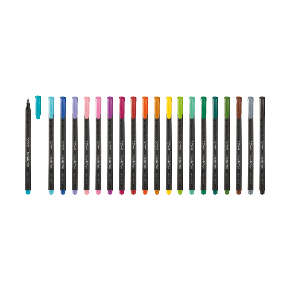 Caneta Fineliner 0.4mm 12 Cores Graph'Peps Maped