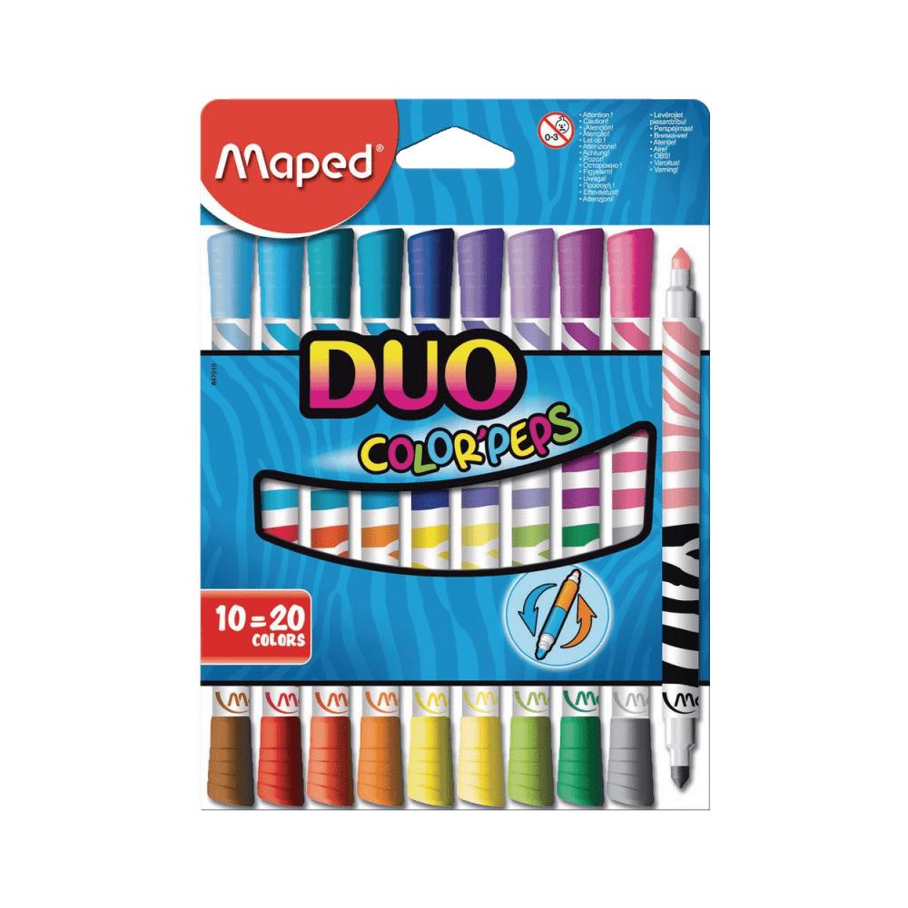 Caneta Hidrográfica Color'Peps Duo 20 Cores Maped