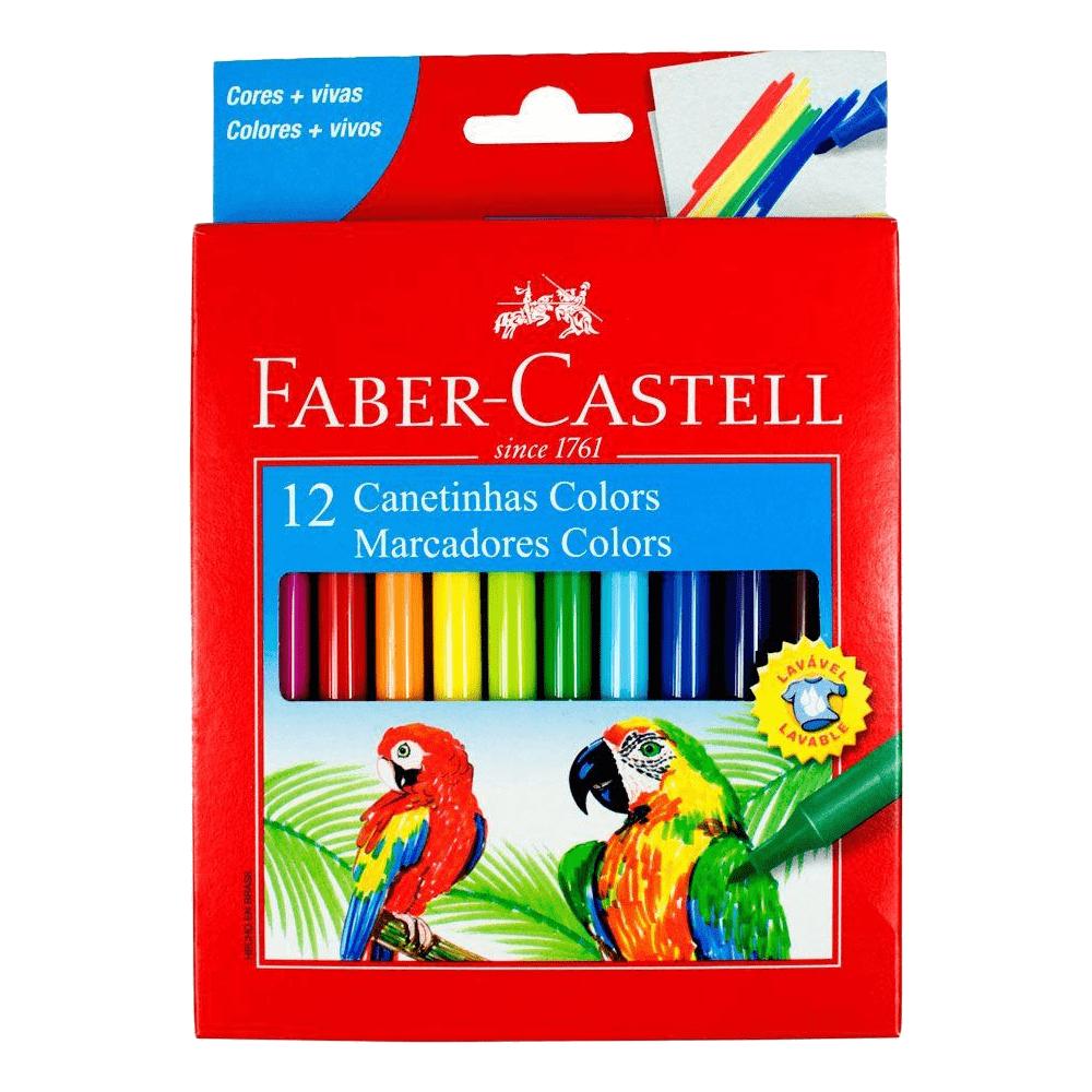 Caneta Hidrográfica 12 Cores Faber Castell Colors