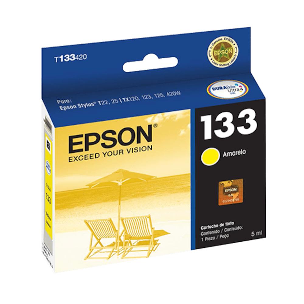 Cartucho de Tinta 133 Amarelo 5ml Epson