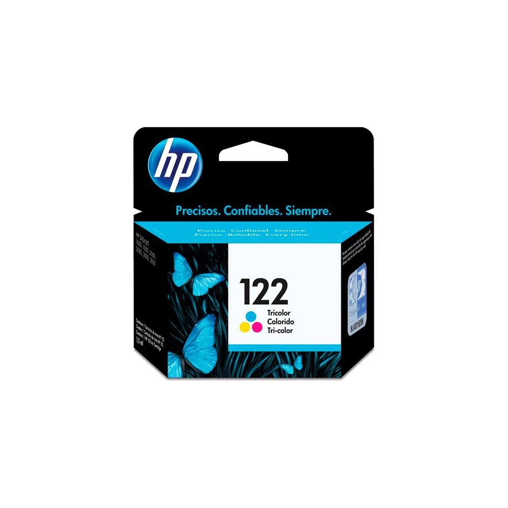 Cartucho de Tinta 2mL Colorido 122 CH562HB HP