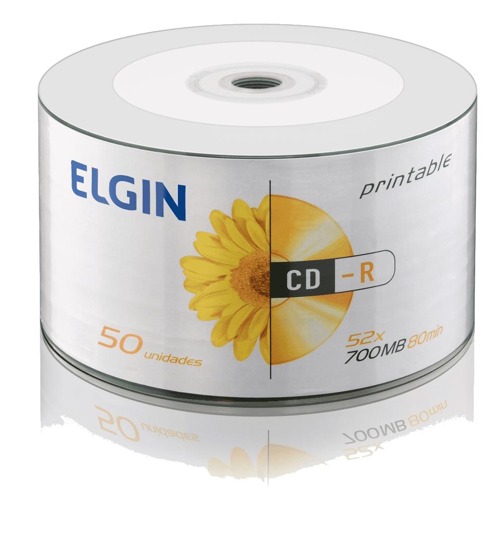 Mídia CD-R 700mb/80 min 52x Printable Elgin