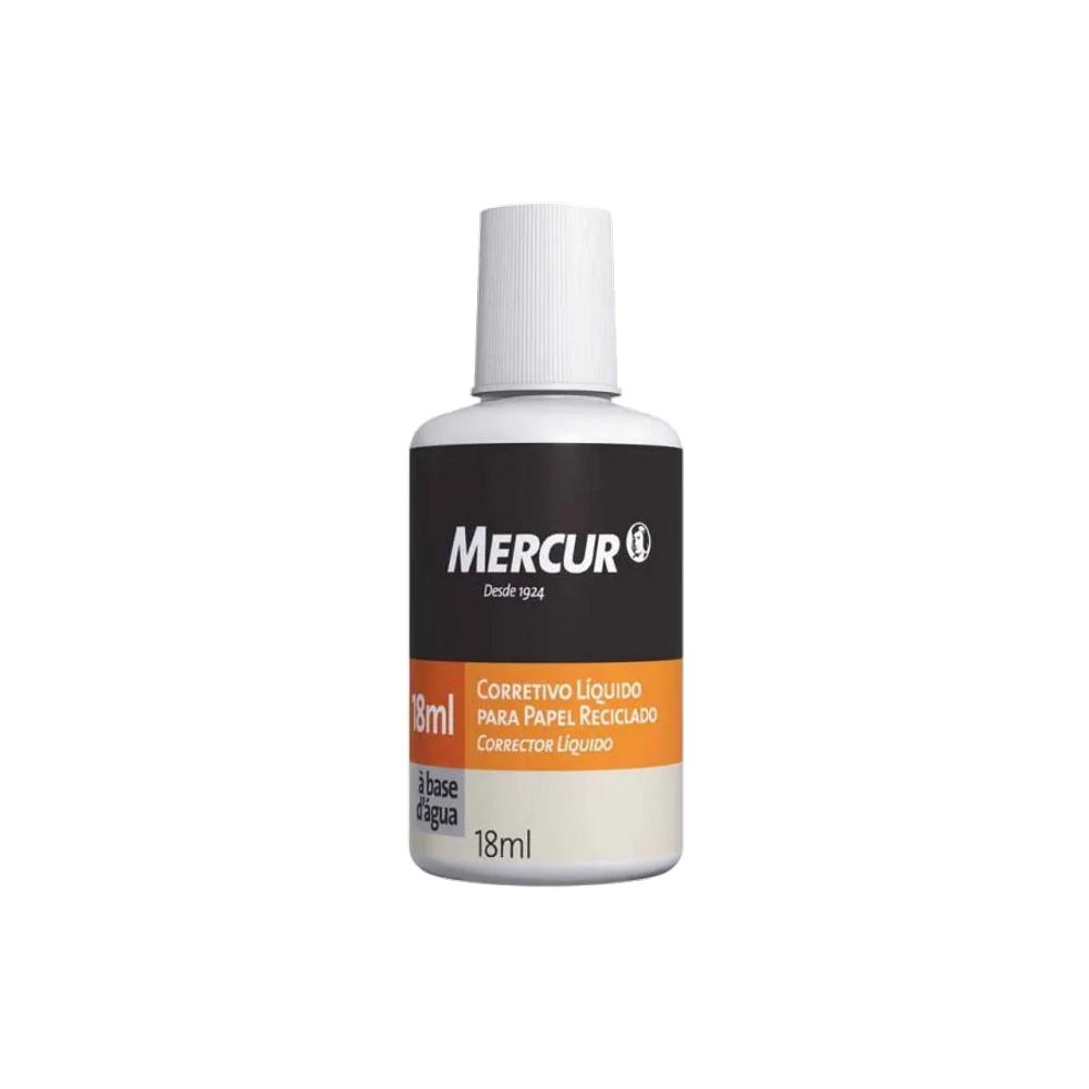 Corretivo Líquido para Papel Reciclado 18ml Mercur