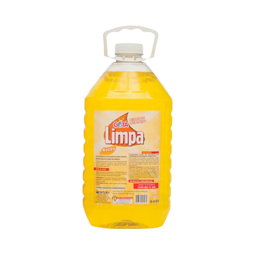 Detergente de Louça 5L Neutro Gota Limpa