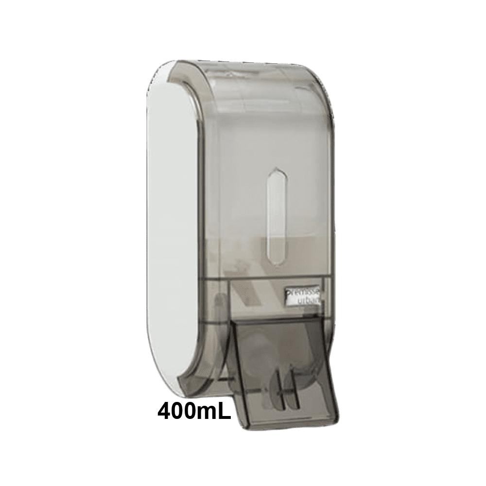 Dispenser de Sabonete com Reservatório 400mL Glass Fumê Urban Compacta Premisse