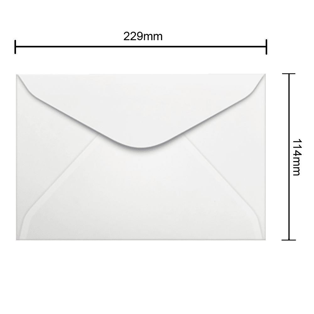 Envelope Branco 114mm x 229mm 63g 0046 Ipecol