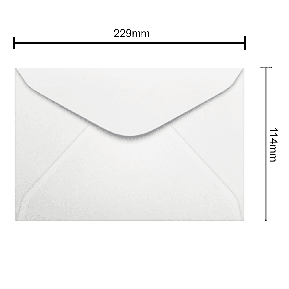 Envelope Branco 114mm x 229mm 75g 0008 Ipecol