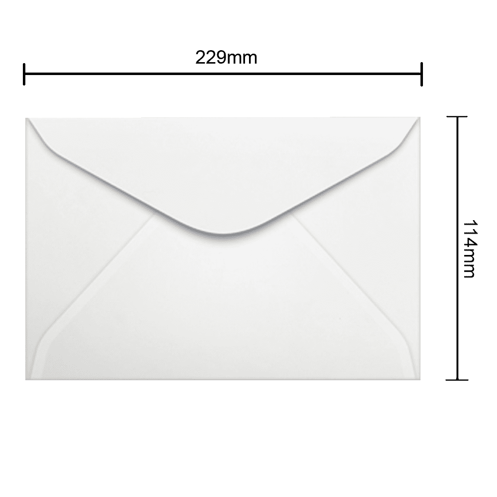 Envelope Branco 114mm x 229mm 90g 0011 Ipecol