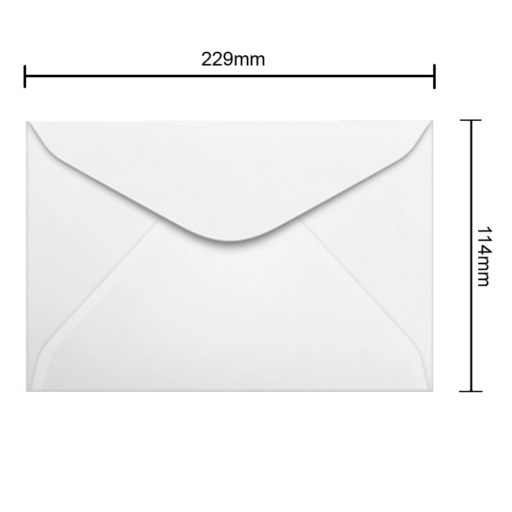 Envelope Branco 114mm x 229mm 75g 1000 Unidades 0008 Ipecol