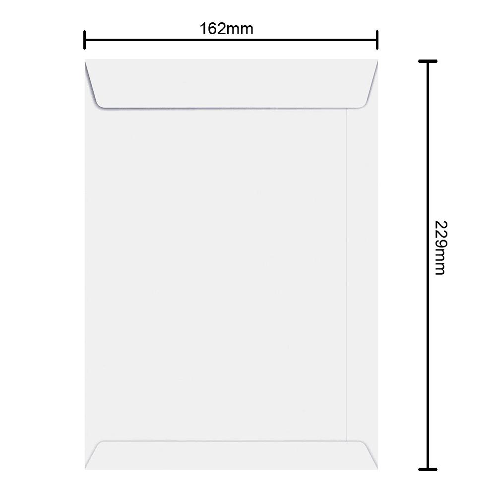 Envelope Branco 162mm x 229mm 75g 6371 Ipecol
