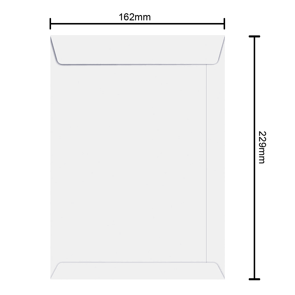 Envelope Branco 162mm x 229mm 90g 6461 Ipecol