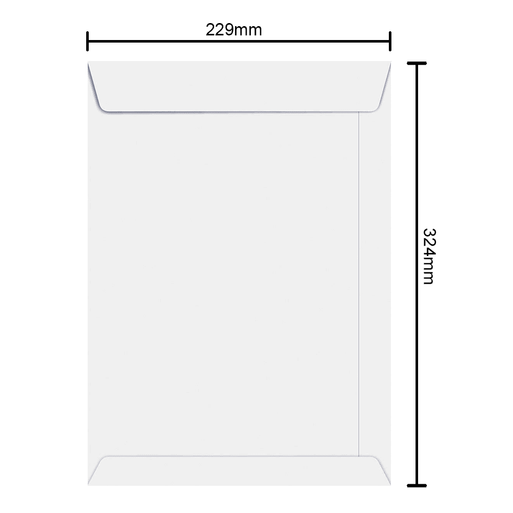 Envelope Branco 229mm x 324mm 90g 6464 Ipecol