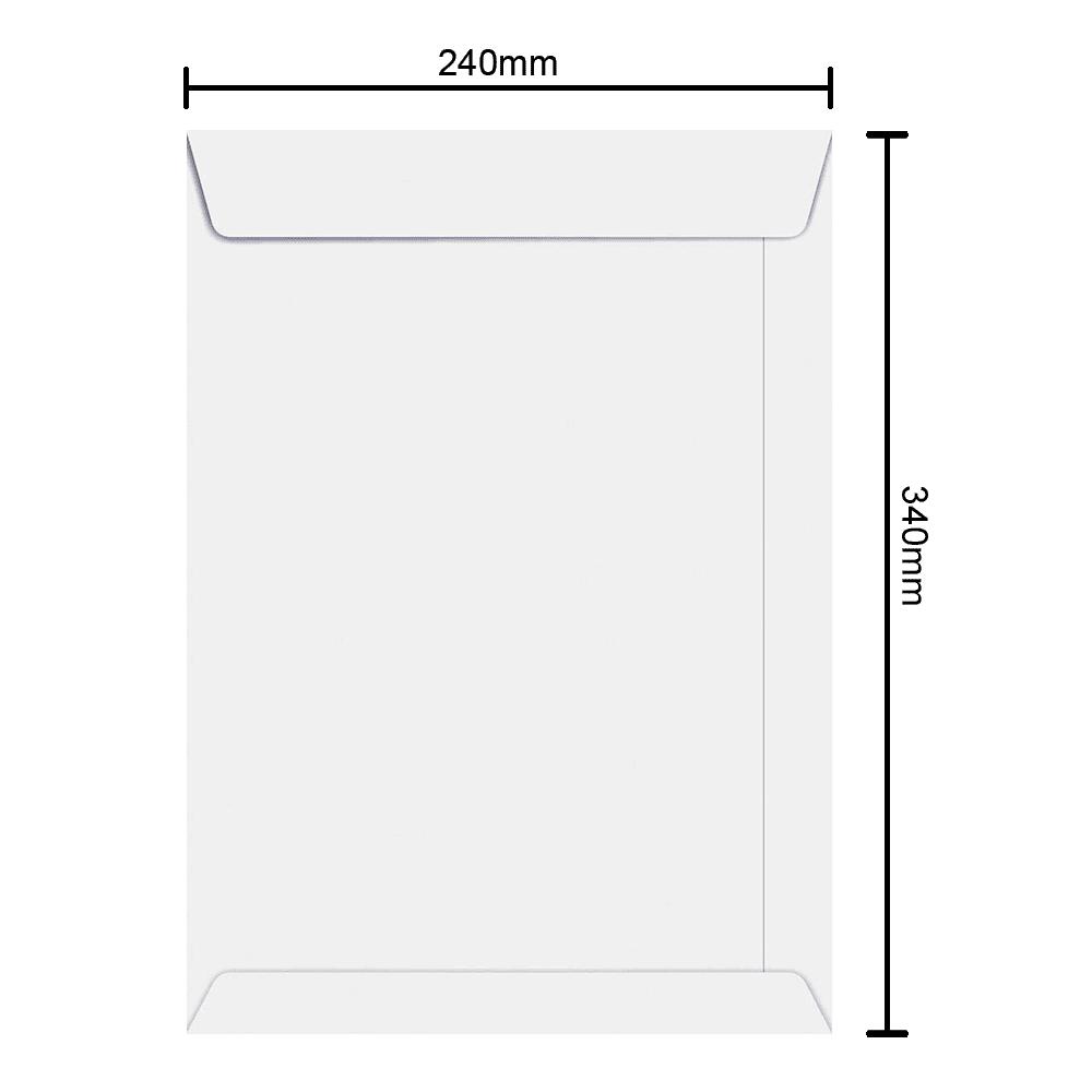Envelope Branco 240mm x 340mm 75g 6375 Ipecol