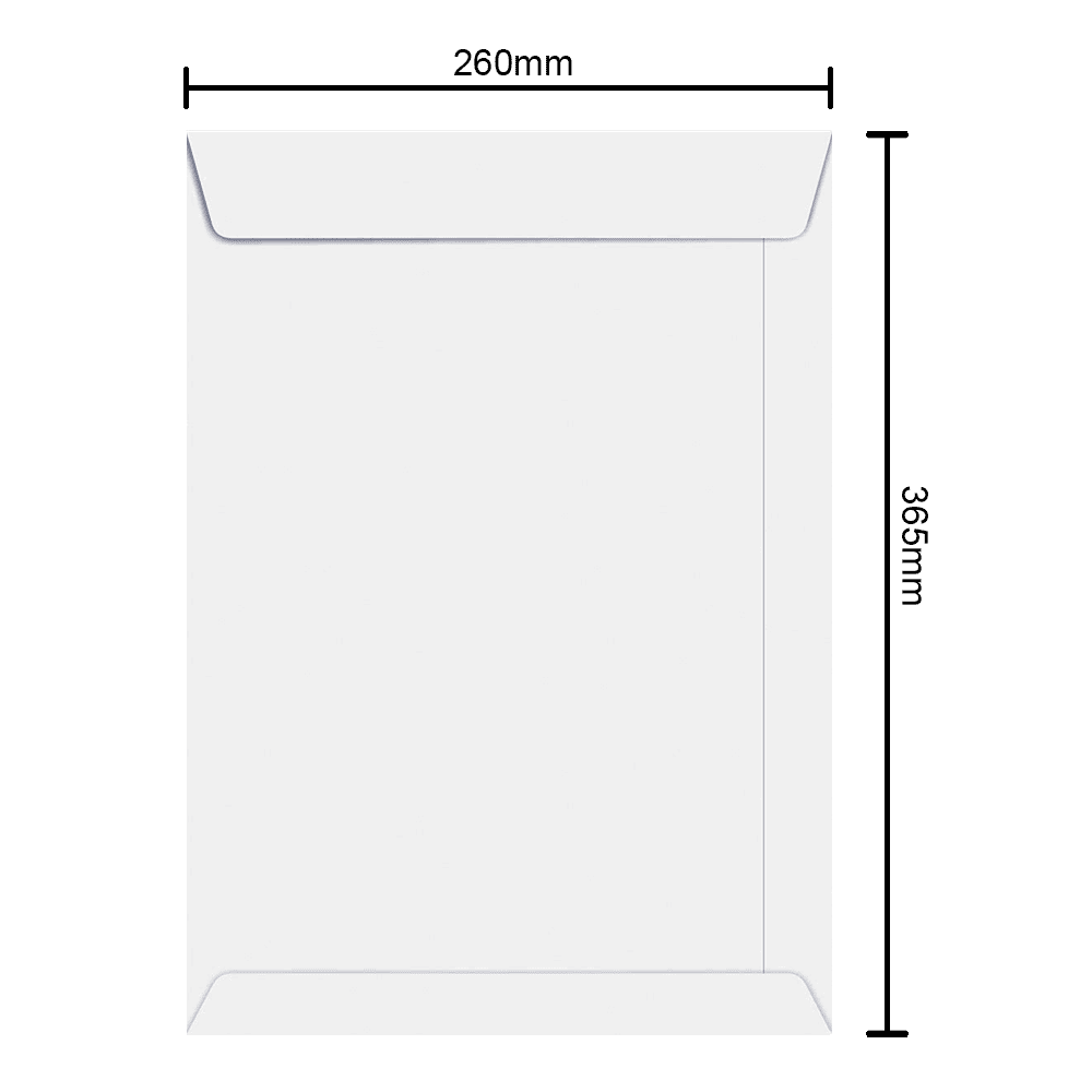 Envelope Branco 260mm x 365mm 90g 6467 Ipecol