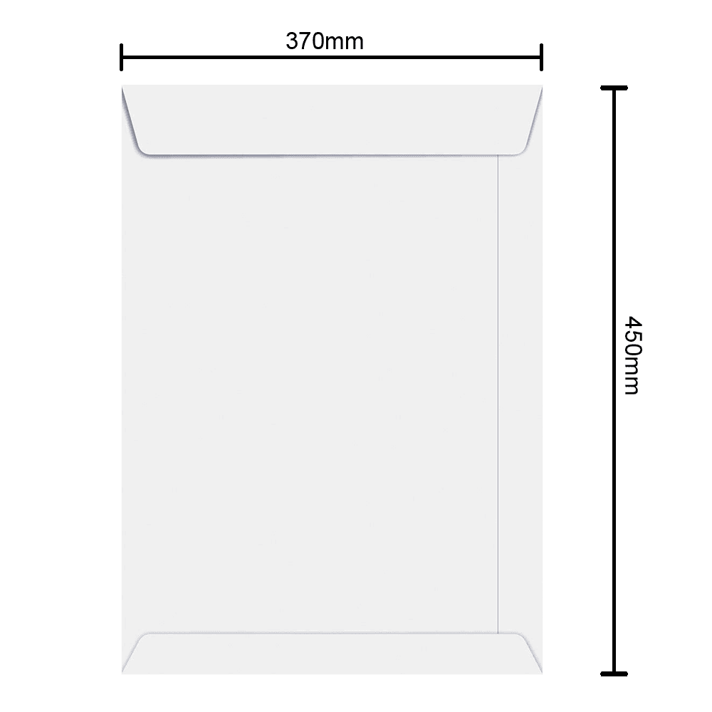 Envelope Branco 370mm x 450mm 90g 6469 Ipecol