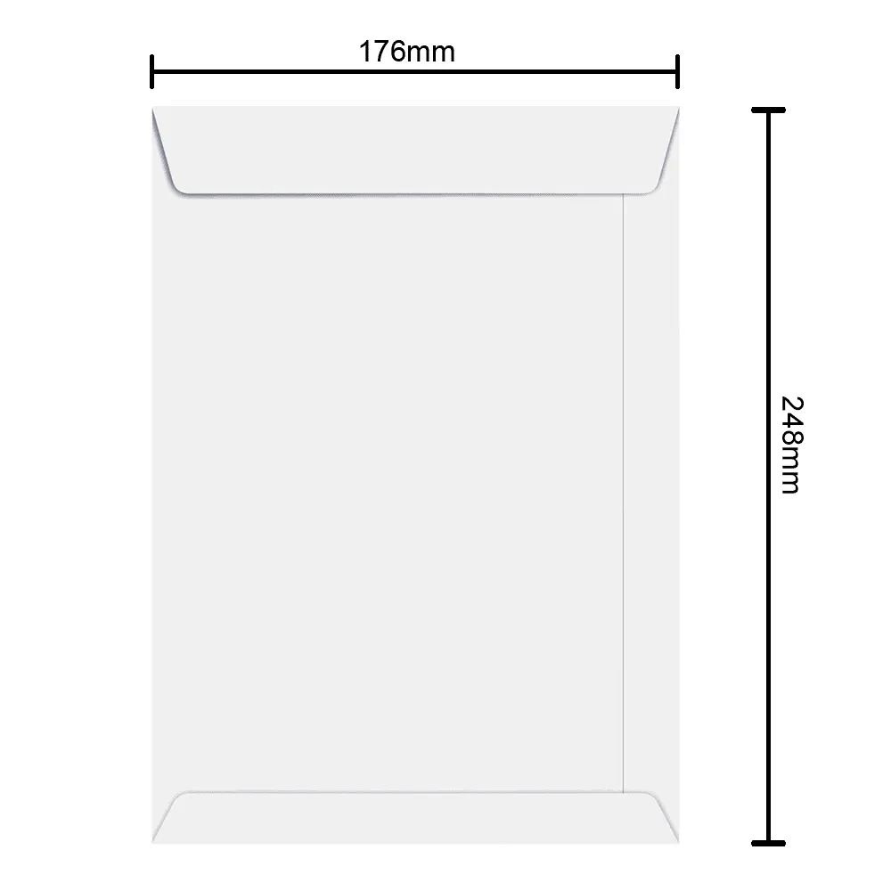 Envelope Branco 176mm x 248mm 90g 6462 Ipecol