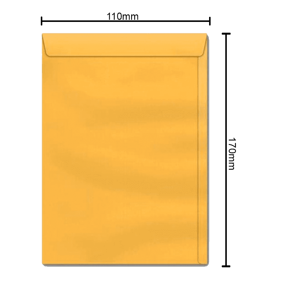 Envelope Ouro 110mm x 170mm 80g 0154 Ipecol