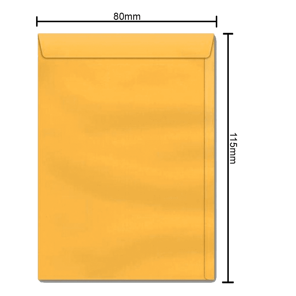 Envelope Ouro 80mm x 115mm 80g 0152 Ipecol