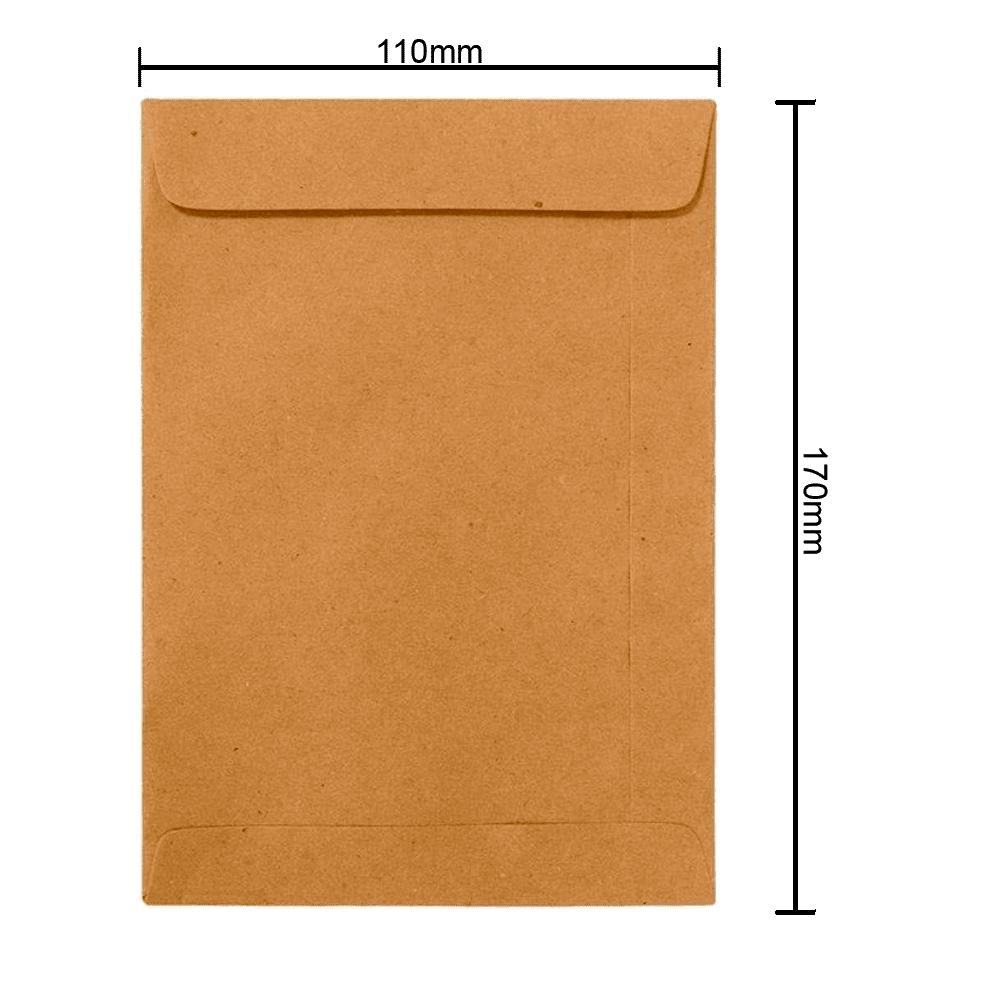 Envelope Kraft 110mm x 170mm 80g 0350 Ipecol
