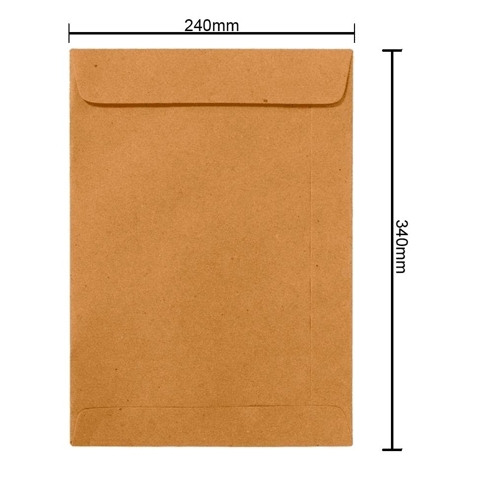 Envelope Kraft 240mm x 340mm 80g 250 Unidades 6276 Ipecol