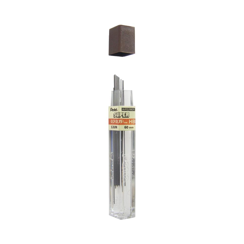 Grafite HB 0.3mm 12 Unidades Pentel